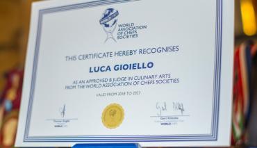 Luca Gioiello giudice della World Associations of Chefs Societies