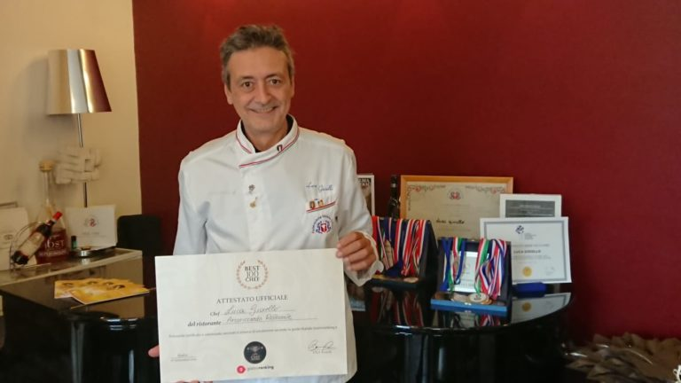 Luca Gioiello e l'attestato Best 100 Chef di Chef Awards
